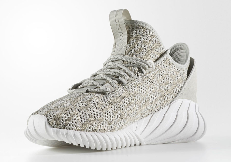The adidas Tubular Doom Soc In White And Black