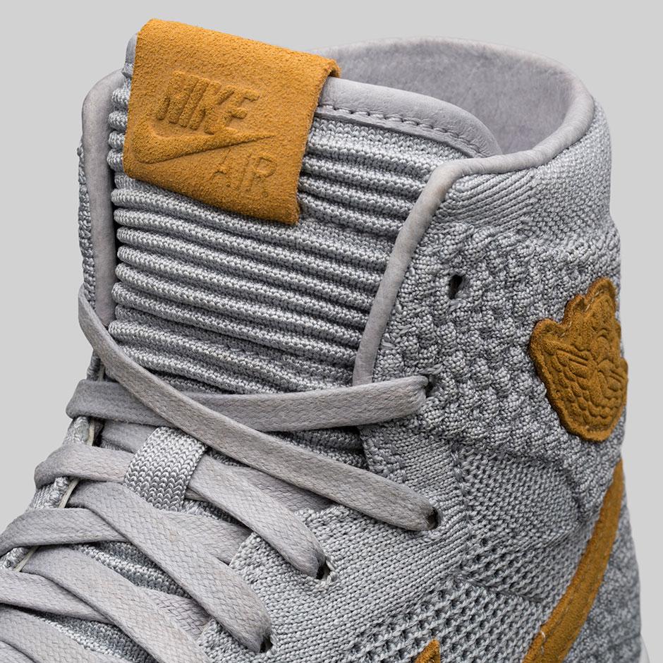 Jordan 1 Flyknit Grey Wheat 919704-025