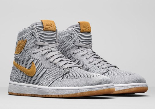 "6af2c74bf023 The Air Jordan 1 Retro High Flyknit Joins The ""Golden Harvest"""
