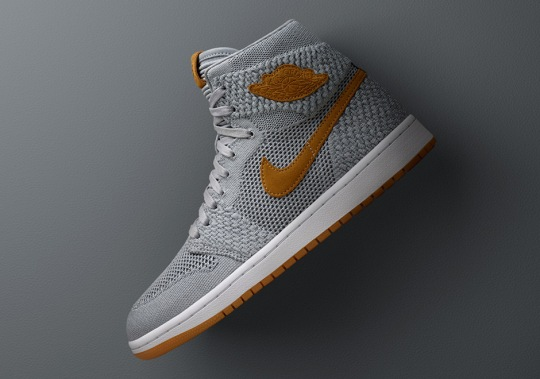"""Official Images Of The Air Jordan 1 Flyknit """"Wolf Grey"""""""