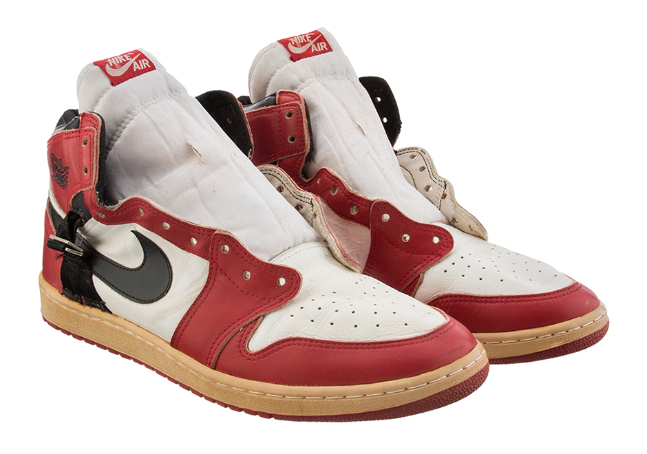 3a3fa958e679 Insanely Rare Modified Air Jordan 1 Worn By Michael Jordan In 1986 After  Foot Injury Is Up For Auction