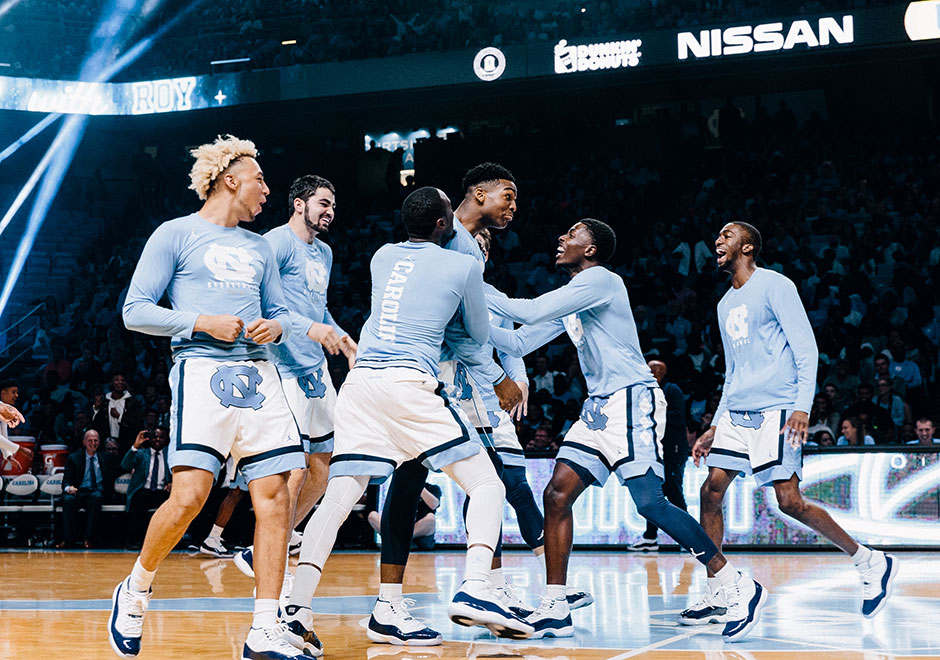 "ff99950a9343 UNC Tar Heels Debut Air Jordan 11 ""Win Like  82"" At Late Night With Roy  Scrimmage Game"