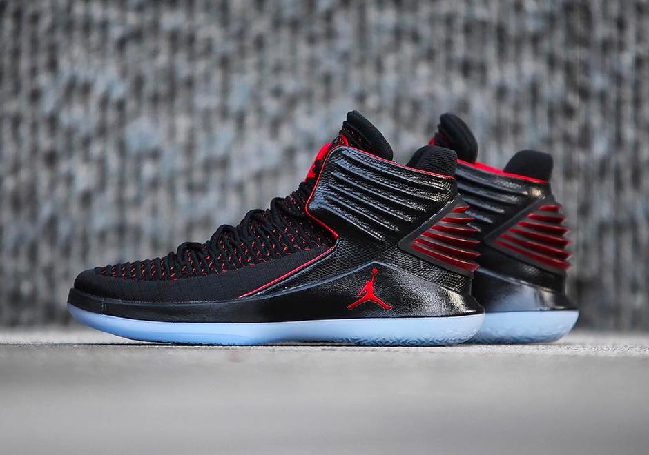 947b472cd44 Nike Air Jordan XXXII 32 Retro Low Men Basketball Shoes All Black White  AA1256