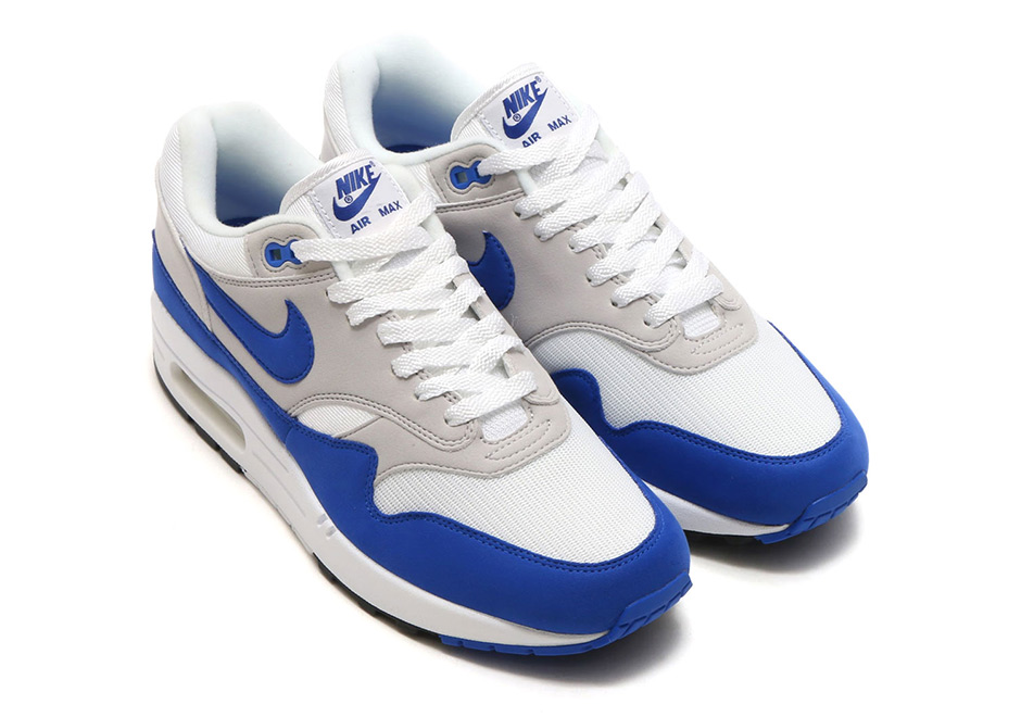 more photos 0e4ab aa963 Tomorrow marks the official restock date of the Nike Air Max 1 Anniversary  in the introductory royal blue colorway from 1987. Originally releasing  back in ...