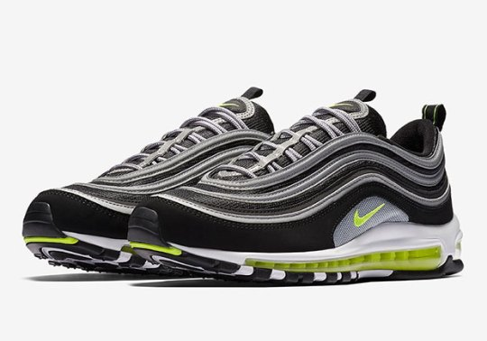 The Nike Air Max 97 OG In Black/Volt Is Releasing On October 28th