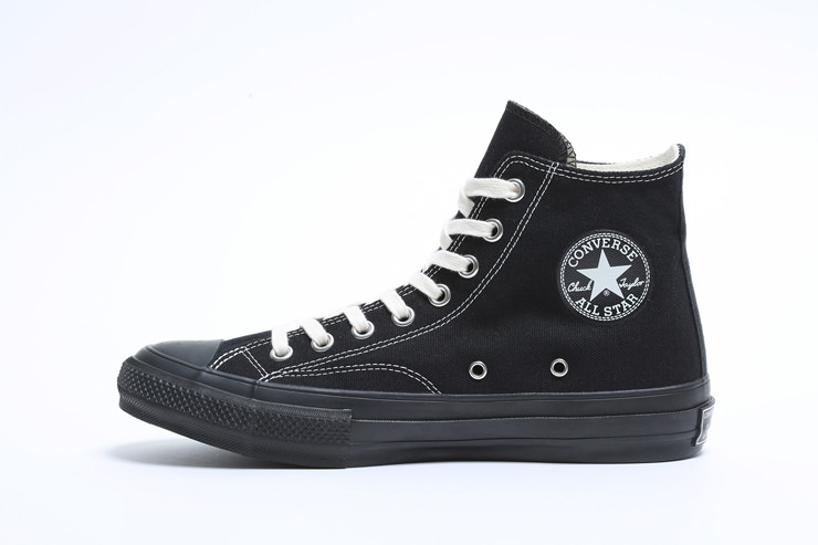 cdg converse all black