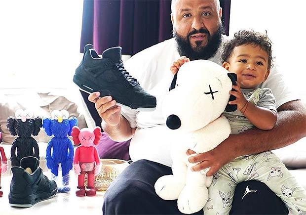 hot sale online c5847 5566a DJ Khaled Black Jordan 4 KAWS | SneakerNews.com