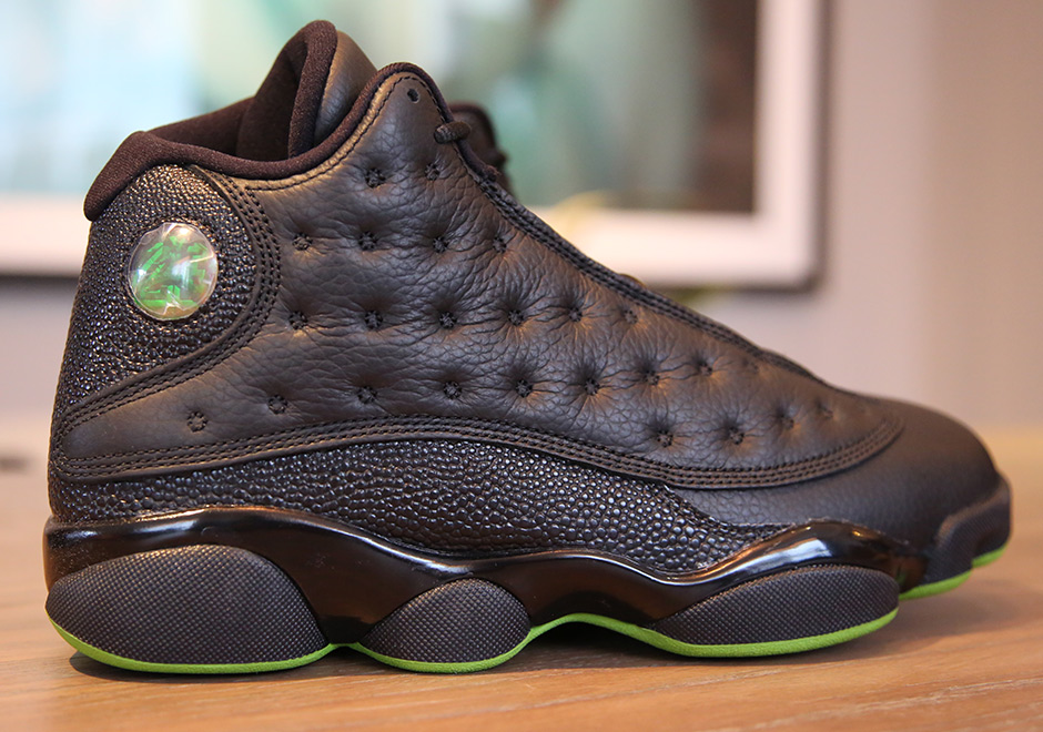 brand new 1908c 91274 Jordan 13 Altitude Black Green Release Date   SneakerNews.com