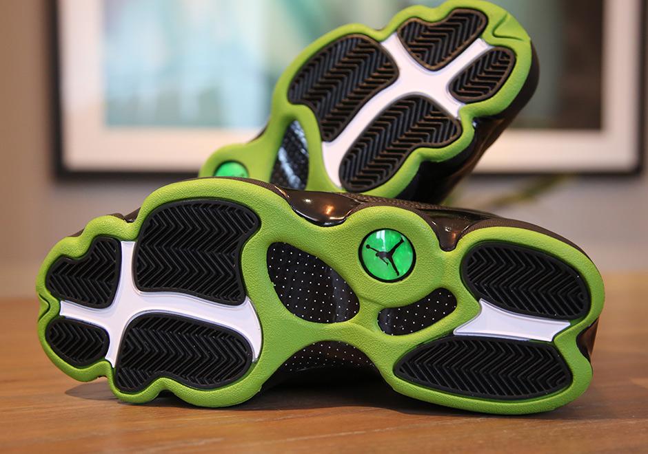 on sale 38a3f 50693 Jordan 13 Altitude Black Green Release Date | SneakerNews.com