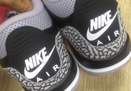 "First Look At The Air Jordan 3 ""Black/Cement"" With Nike Air"