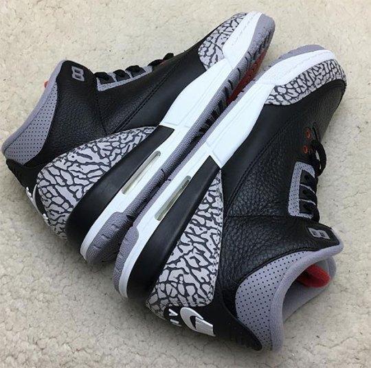 "A Closer Look At The Air Jordan 3 ""Black/Cement"" With Nike Air"