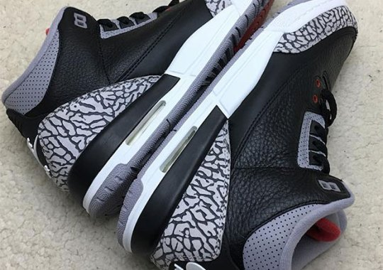 "fe1d464d9d37 A Closer Look At The Air Jordan 3 ""Black Cement"" With Nike Air"