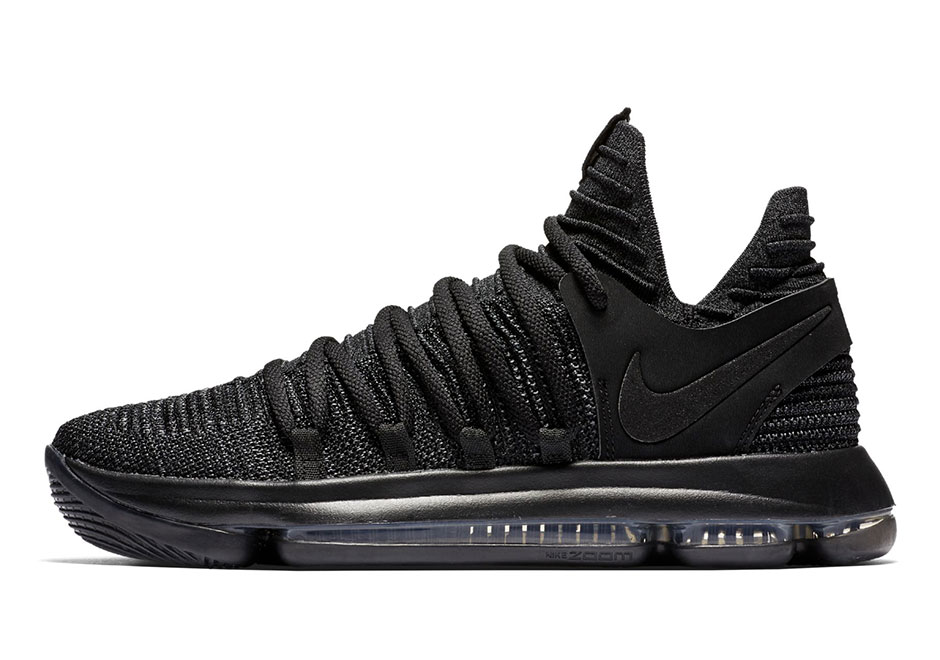 "quality design a49b6 304da Nike KD 10 ""Triple Black"" Release Date  November 1, 2017  150. Style Code   897816-004"