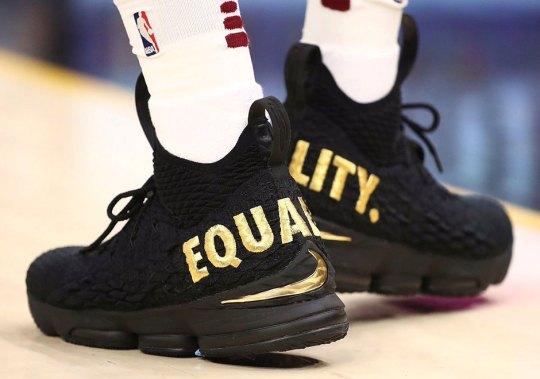 """LeBron James Starts 2017-2018 NBA Season With Nike LeBron 15 """"Equality"""" PE"""