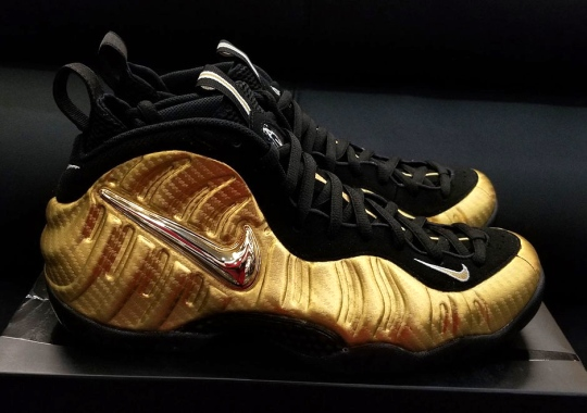 """A Detailed Look At The Nike Air Foamposite Pro """"Metallic Gold"""""""