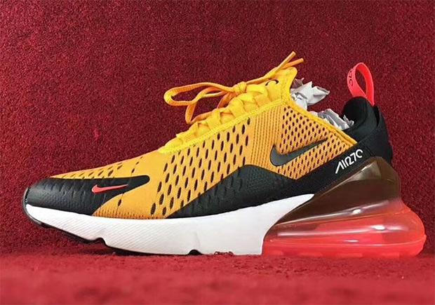 Redondo Credencial Ciego  Nike Air Max 270 Orange Black Red | SneakerNews.com