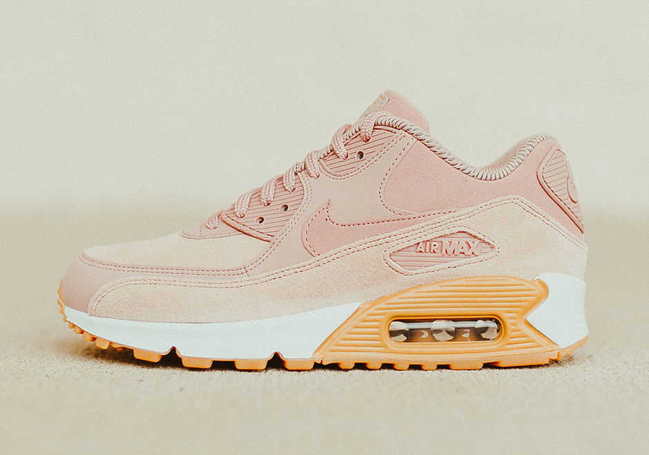 Nike Air Max 90 SE Available Now on Nike.com.  120 (buy HERE) Color   Particle Pink Gum Light Brown White Particle Pink ef1abc724