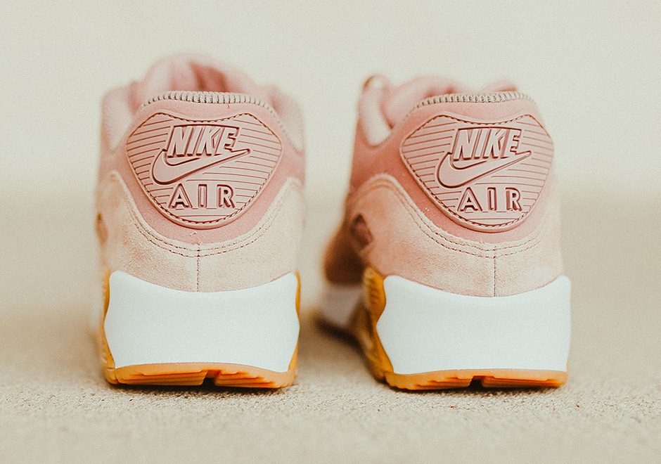 sale retailer a7a87 e3d15 Nike Air Max 90 SE Available Now on Nike.com.  120 (buy HERE) Color  Particle  Pink Gum Light Brown White Particle Pink Style Code  881105-601.  Advertisement
