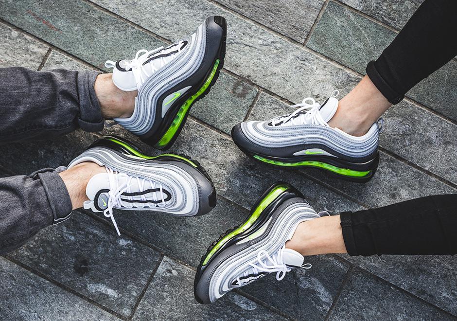 hot sales f720d 39b0d Nike WMNS Air Max 97  160. Color  Dark Grey Volt-Stealth-Pure Platinum
