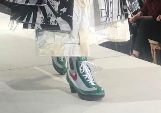 COMME des Garcons Features Nike Boxing Boots In SS18 Fashion Show