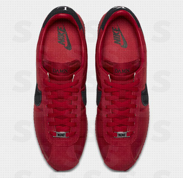 huge discount d8f14 43e7b Kendrick Lamar Nike Cortez Damn Red | SneakerNews.com