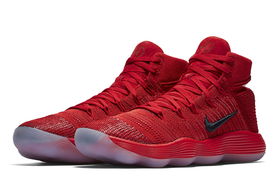 a220ada8586d The Nike REACT Hyperdunk 2017 Flyknit Goes All-Red