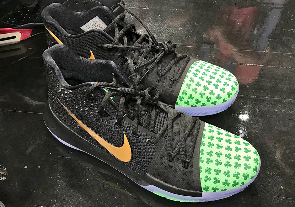"2e5f3783a950 Kyrie Irving Is Ready For Tip-Off Of New NBA Season With Nike Kyrie 3 "" Celtics"" PE"