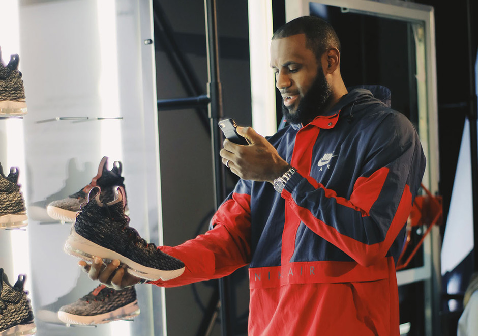 179e585a07f LeBron s Shoe Designer Jason Petrie Chases Down Flyknit For The Nike LeBron  15