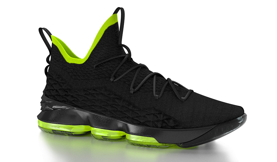 Above: 3-D rendering of the Nike LeBron 15 (Photo: Nike)