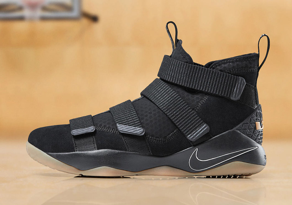 34d60f0aff7 Nike LeBron Soldier 11 Available Now In Black Gum