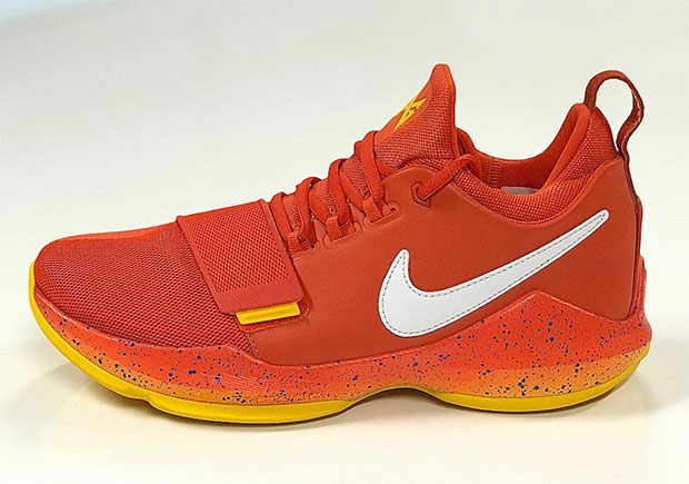 7d31f42d002 Up Close With Paul George s Nike PG 1 From His OKC Thunder Regular Season  Debut