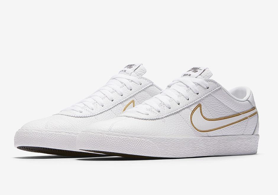 new concept 05284 5f644 Nike SB Bruin Premium White Gold 877045-117   Sneakernews.com