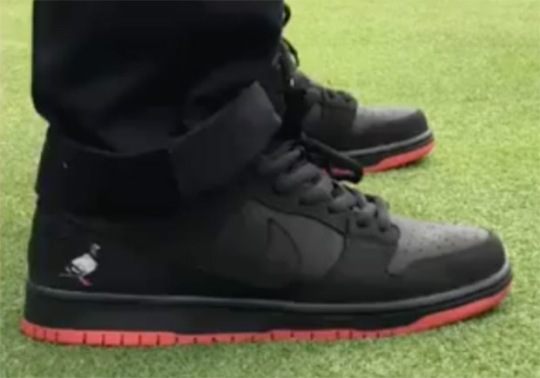First Look At The Nike SB Dunk Low Pigeon In Black