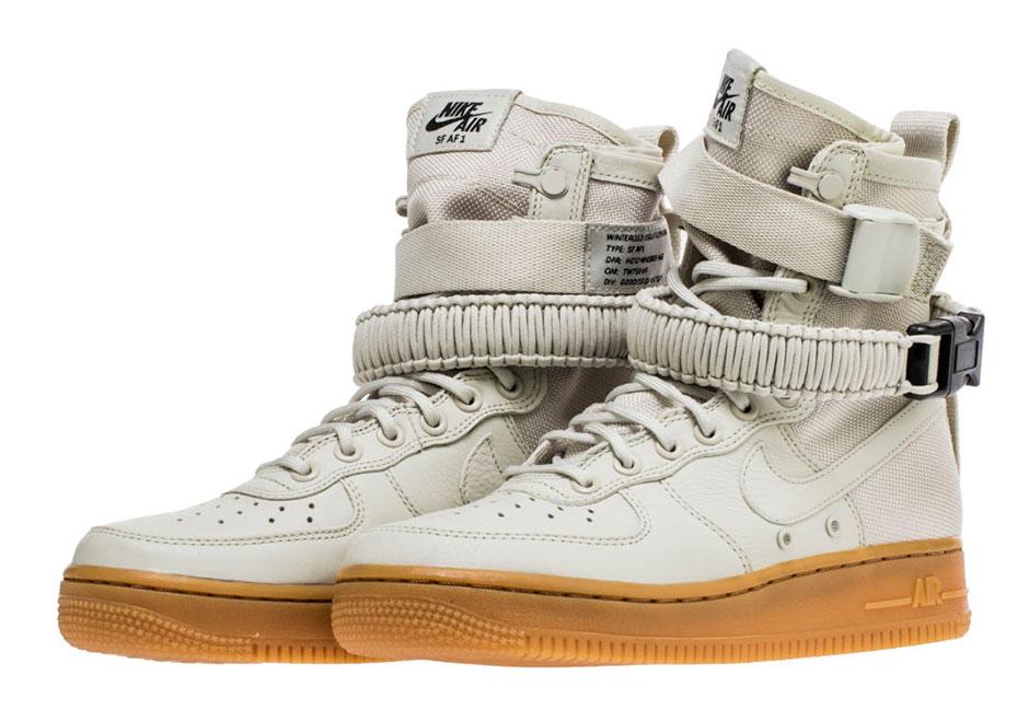 watch 25cb8 e0b75 Nike WMNS SF-AF1 Light Bone Gum 857872-004 | SneakerNews.com