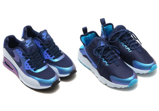 """Two Nike Ultra Models Get Iridescent Uppers For """"Comet Blue"""" Pack"""