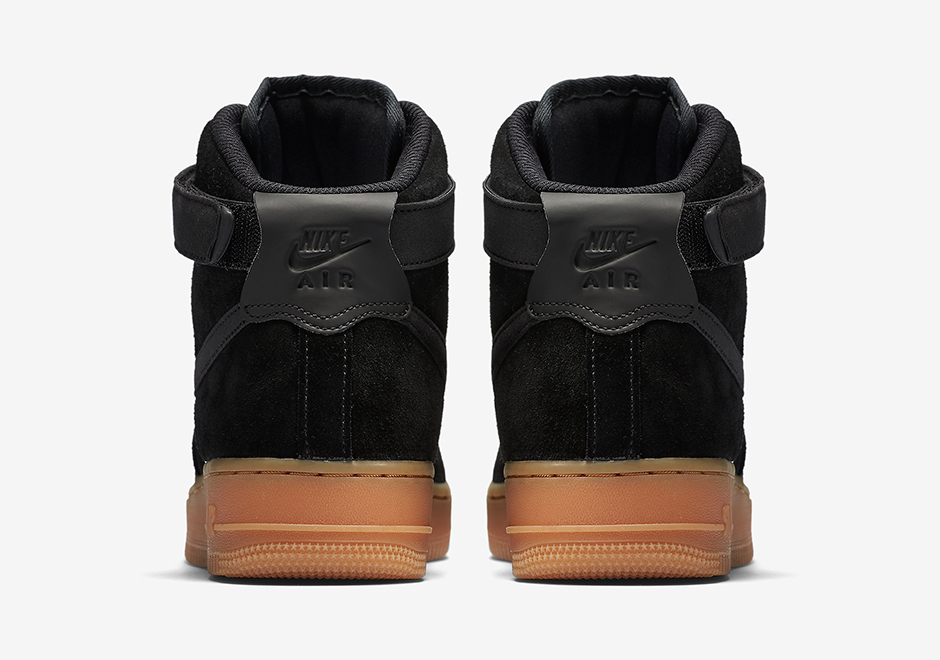 Nike Air Force 1 Gomma Aria Nero Unico setGCjr