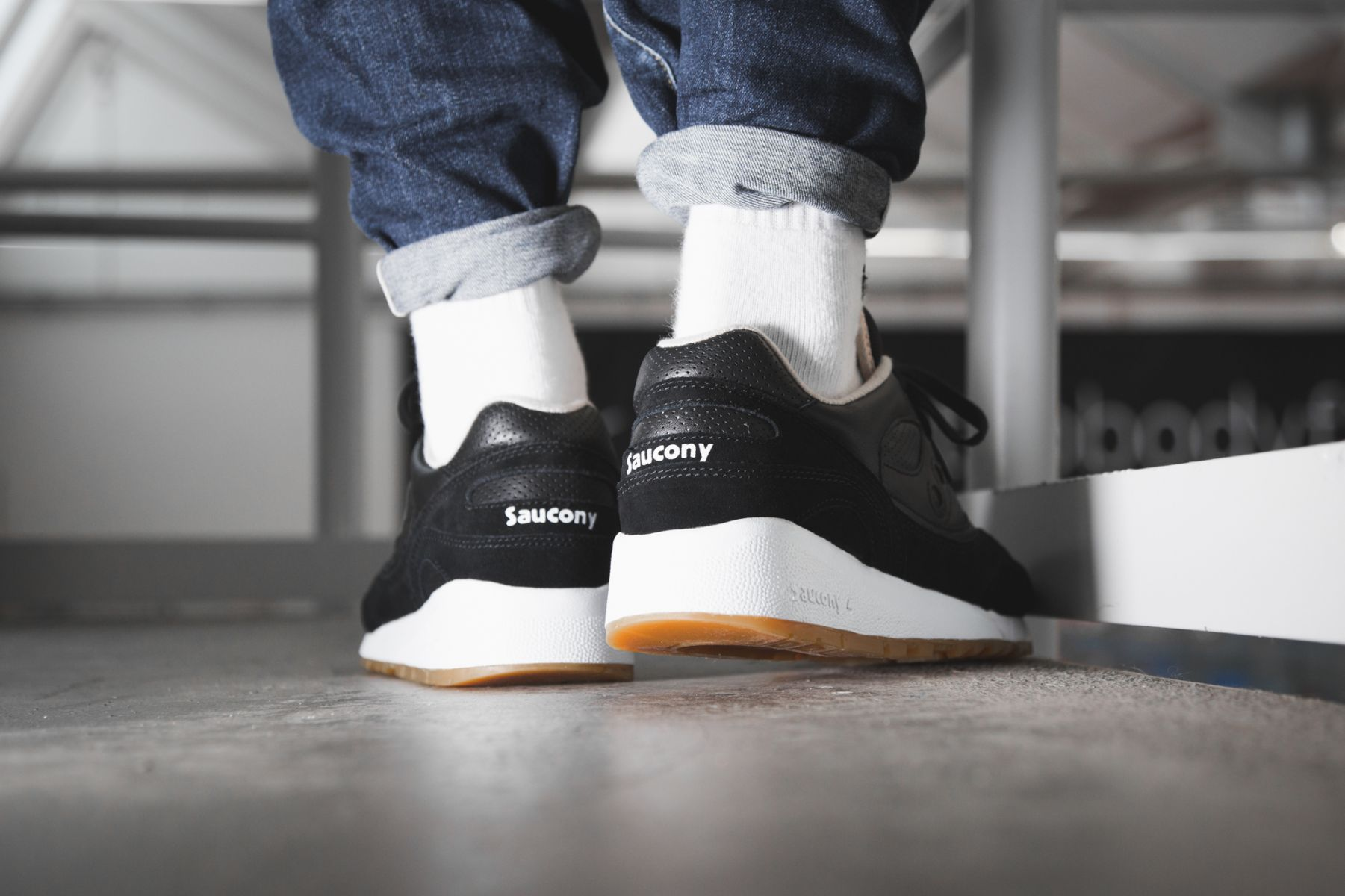 Saucony Shadow 6000 Perf Pack Black White |