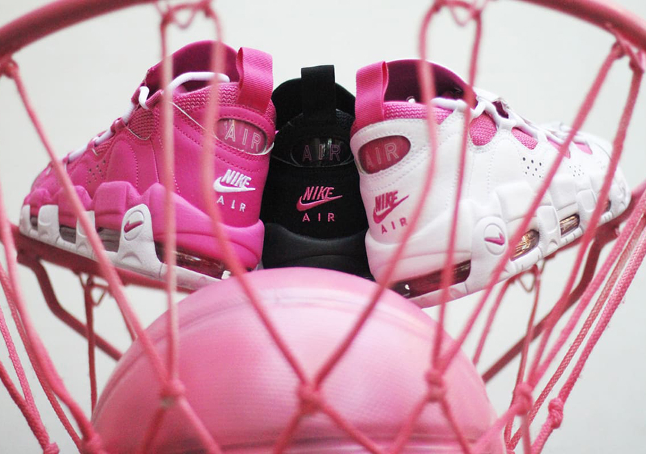 b258d64cec9 Sneaker Room Nike Air More Money Pink Breast Cancer Awareness ...