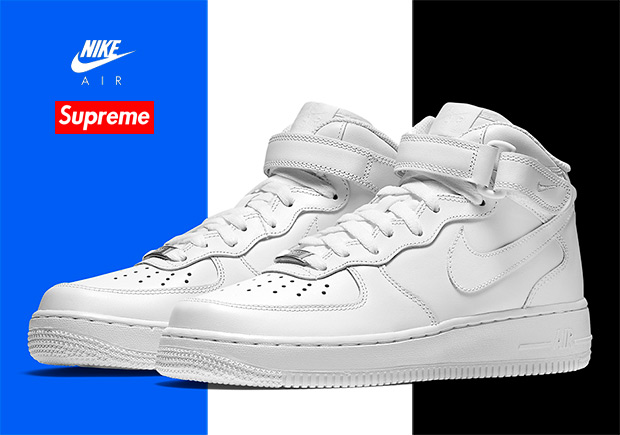 more photos 01813 4cef3 Supreme Nike Air Force 1 Mid AQ8017-400 AQ8017-100 AQ8017-001    SneakerNews.com
