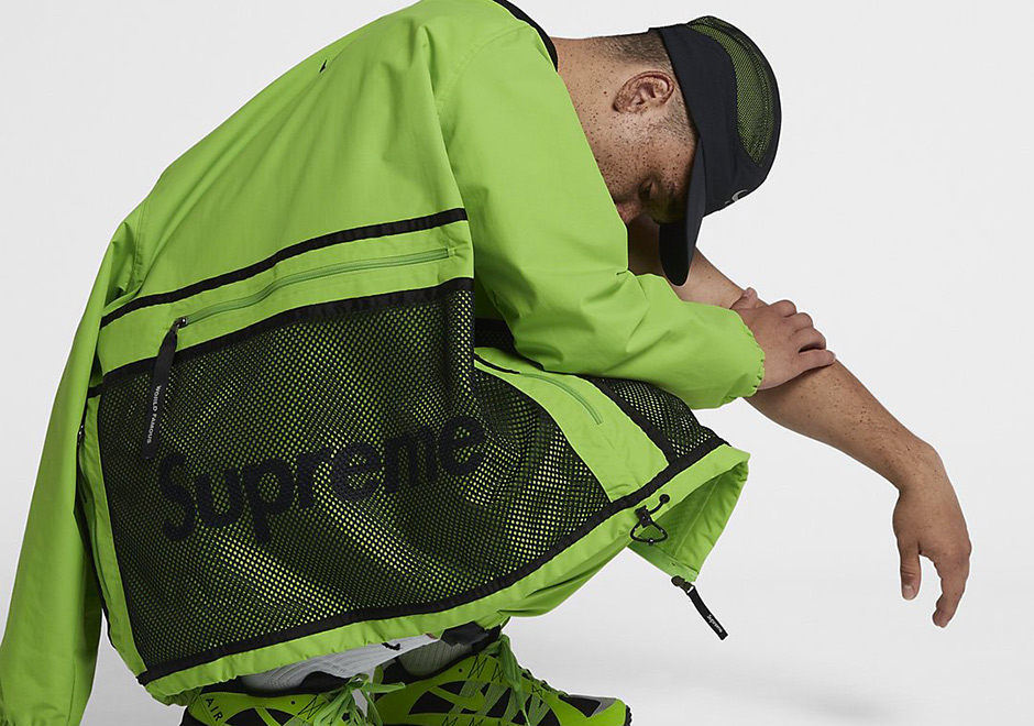 ad1ba733d4b Supreme and Nike have collaborated on a larger footwear apparel capsule for  FW17 highlighted by four distinct color swatches of neon effect.