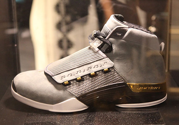 online store 4f82d 49558 Color Cool Above Air Jordan 17 PE on display at Trophy Room Store opening  ...