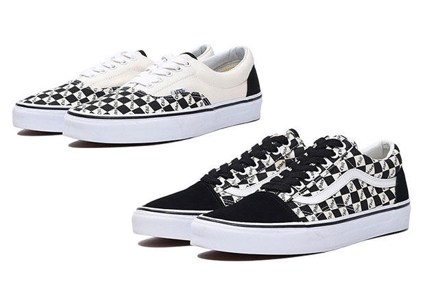 vans era checkerboard black white