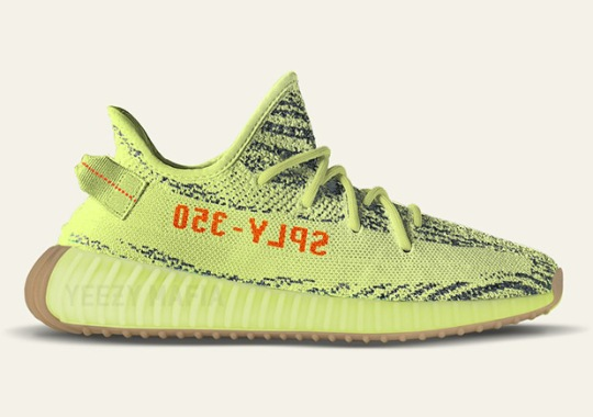 "adidas Yeezy Boost 350 v2 ""Semi Frozen Yellow"" To Feature Gum Soles"