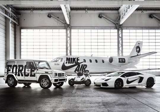 BSTN and Nike Continue the AF100 Celebration with Four Customized Vehicles