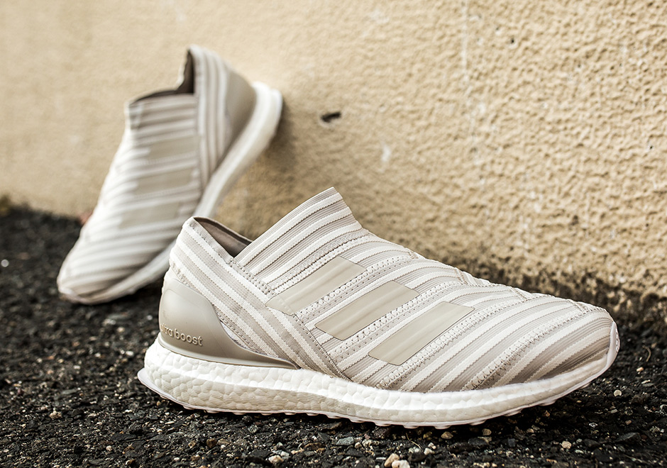 "d3eafee3e01 adidas Nemeziz Tango 17+ Ultra Boost ""Clear Brown"" AVAILABLE AT SNS  200.  Color  Clear Brown Clear Brown Chalk White"