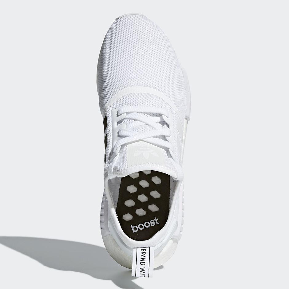 Adidas Nmd R1 Hvite Sorte Striper Q2RCq4Aj