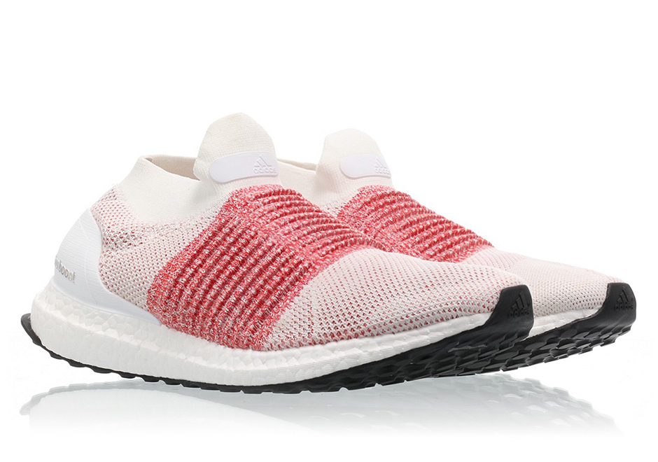 bd8b6852bb773 adidas Ultra Boost Laceless Trace Scarlet BB6136 Available Now ...