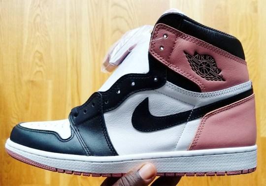 """Air Jordan 1 """"Black Toe"""" In Pink Revealed By Nigel Sylvester"""