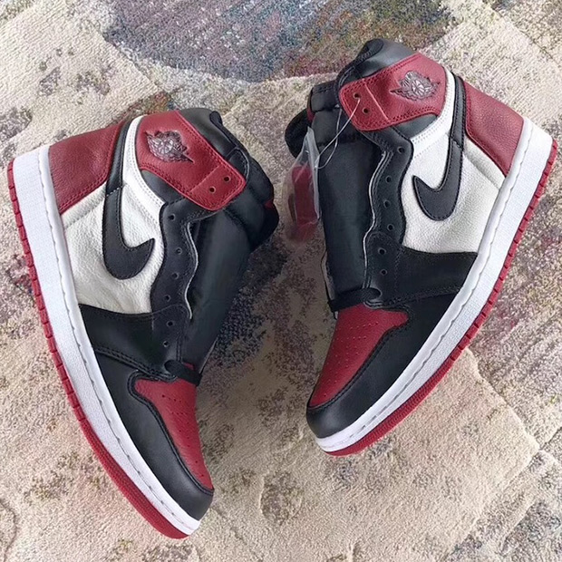"separation shoes 54543 8b7a7 Air Jordan 1 ""Bred Toe"" Release Date  February 23rd, 2018  160. Color  Gym  Red Black-Summit White"