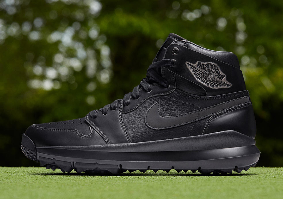 "f7aa270eca4fb9 Jordan Brand is following up the release of the Air Jordan 1 Golf shoe in  the OG ""Chicago"" colorway with a more serious all-black offering on  December 15th."